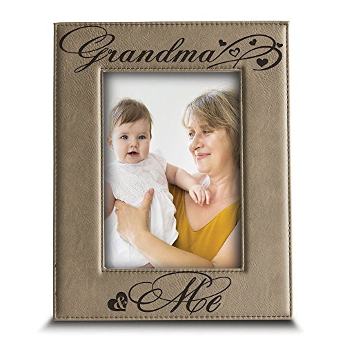 Bella Busta Grandma And Me Picture Frame Grandma Gifts Gift For Grandparents Engraved Leather Picture Frame 5x 7 Verticalgrandma