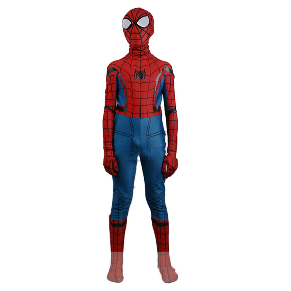 TOYSSKYR Hero Return Children SpidermanCosplay One-piece Tights Cosplay Costume ( Color : Photo Color , Size : Height130cm )