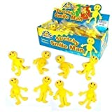 24 x Boys Girls Childrens Kids Yellow Stretchy Happy Man Men Party Bag Loot Fillers