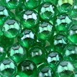 Round Glass Floral Marbles, 14-oz. Bags (Green)