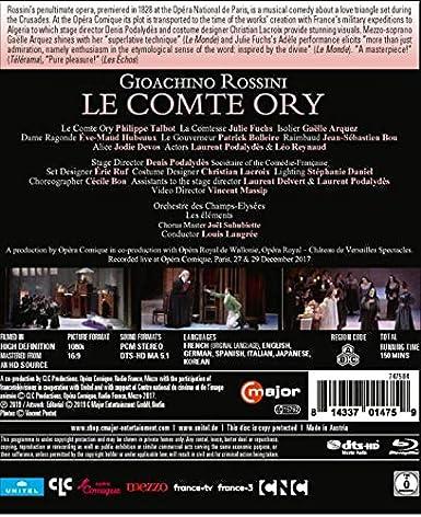 Amazon com: Rossini: Le Comte Ory [Blu-ray]: Philippe Talbot