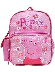 Peppa Pig 10 Canvas Pink School Backpack