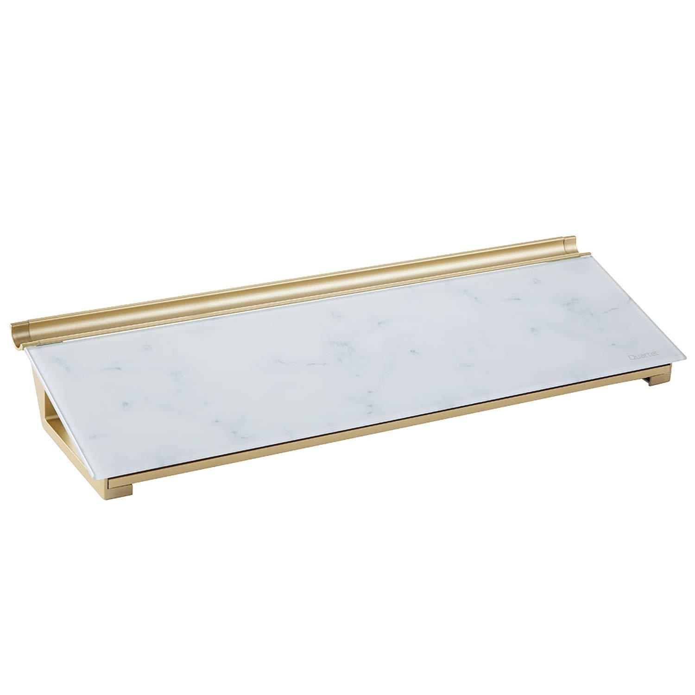 "Quartet Glass Dry Erase Desktop Computer Pad, 18"" x 6"", Frameless, Marble Surface (GDP186M)"
