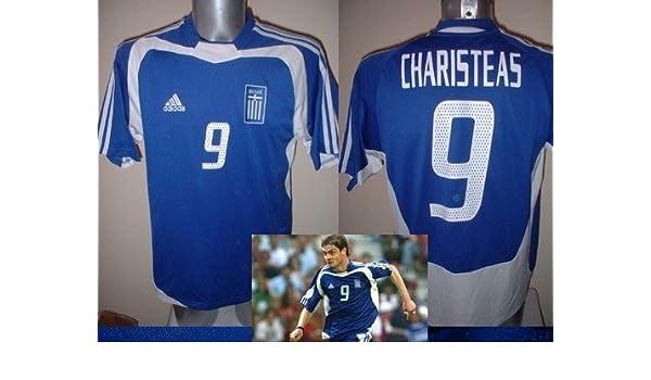 Adidas Grecia Griego CHARISTEAS Camiseta Jersey fútbol Adulto XL Euro 2004 ganadores Trikot: Amazon.es: Deportes y aire libre