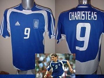 Adidas Grecia Griego CHARISTEAS Camiseta Jersey fútbol Adulto XL Euro 2004 ganadores Trikot