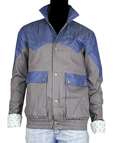 Marty McFly Denim Jacket Back to the Future 1985 Halloween Costume (M) (Denim Jacket Halloween Costume)