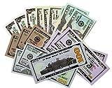 CLEXAVER Educational Play Money Set - Full Print 2