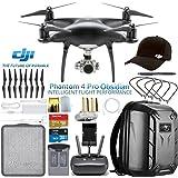 DJI Phantom 4 Pro Obsidian Drone w/DJI Pilots Hat & Hard Shell Backpack Bundle