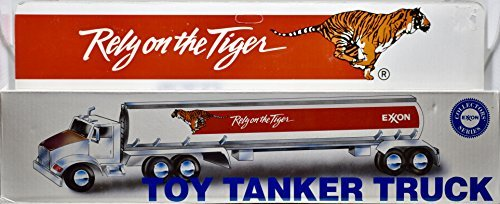 1993 - Exxon Collector's Series - Exxon : Rely on the Tiger - Toy Tanker Truck - OOP - New - Mint - (Tanker Heads)