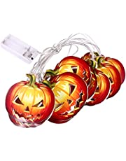 OSALADI Halloween String Light Pumpkin LED Light Lamp Halloween Home Garden Hanging Decorations Props for Halloween Party Supplies