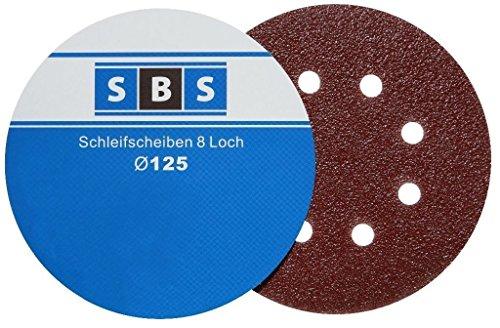 60 Stück Klett-Schleifscheiben Ø 125 mm Körnung je 10 x 40/60/80/120/180/240 für Exzenter-Schleifer 8 Loch