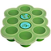 Silicone Baby Food Freezer Tray with Clip-on Lid by WeeSprout - Perfect Stora...