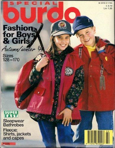 Special Burda Fashion for Boys & Girls, Sewing Pattern Magazine ()