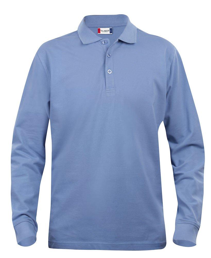 Clique Clothing Mens Long Sleeve Polo Shirt, Cotton, Classic Cut, Medium Weight, 11 Colours, XS-5XL SG2602M