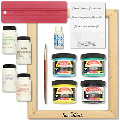 SpeedBall Glow in the Dark Starter Bundle - Can Work With Silhouette Cameo and - Fabric Paints Cameo