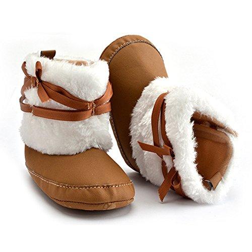 Baby Girl Infant Boots Warm-Kleinkind -Winter-Schuhe Prewalker (L: 12-18 Monate, Weiß) Khaki