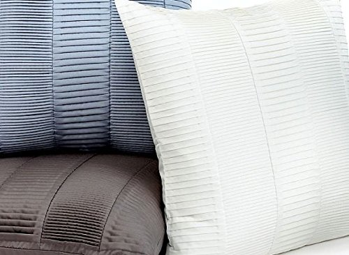 Hotel Collection Pleated Ivory 20'' Square Decorative Pillow $80 Deco Modern