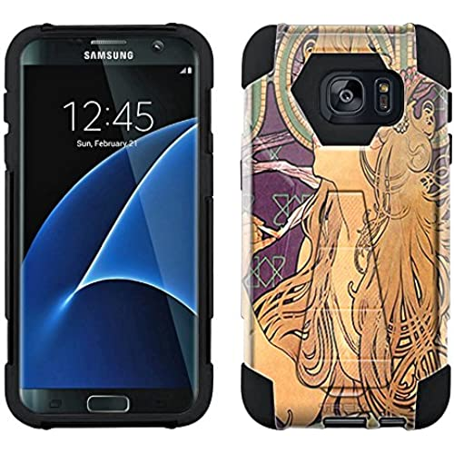 Samsung Galaxy S7 Edge Hybrid Case Alfons Mucha Job Cigarettes 2 Piece Style Silicone Case Cover with Stand for Samsung Galaxy S7 Edge Sales