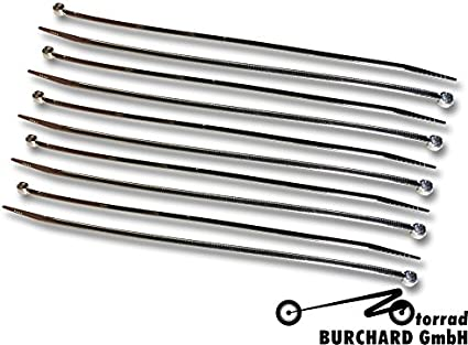 Highway Hawk Kabelbinder Verchromt 10 Stück 3 30 Mm Breit X 200 Mm Lang Auto