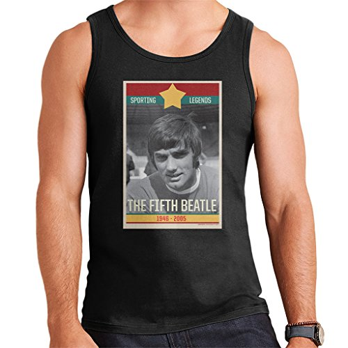 Sporting Legends Poster Ireland George Best The Fifth Beatle 1946 to 2005 Men's Vest (Fifth Beatle George Best)