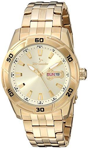 Tornado watch Men's 'Tornado' Quartz Stainless Steel Dress Watch, Color:Gold-Toned (Model: T7013-GBGC)
