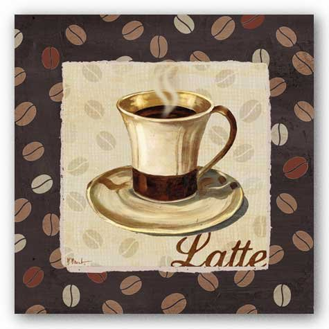 "Cup of Joe III - Latte by Paul Brent 12""x12"" Art Print Poster"