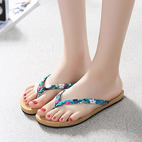 Scarpe Layer Sandali Casual Flip Youjia Donna Flop Single Classic Slim Blue Da Iq4RB
