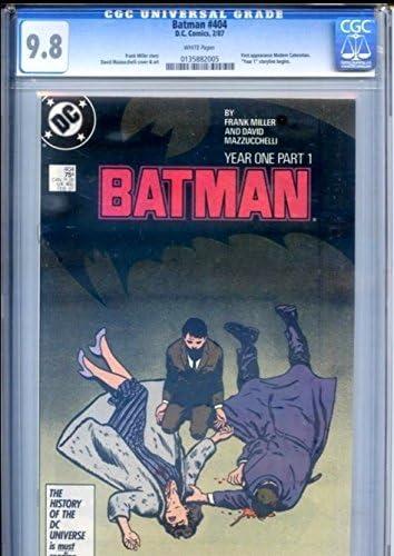 バットマン# 404 CGC Writerフランク・ミラーYear Oneパーツ1ホワイトページ1st Carmine Falcone & 1stモダンキャットウーマンGothamフォックスTV