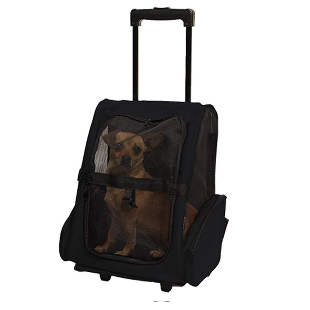 B L43W30H50cm B L43W30H50cm Pet Carrier Trolley,Deluxe Backpack Pet Ventilated Design for Small Cats and Dogs Cycling & Outdoor Use Backpack Pet