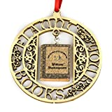 theater merchandise - WILLIAM SHAKESPEARE The Complete Works Clay Mini Book FRAMED Home Décor Ornament by Book Beads