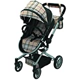 Mommy & me 2 in 1 Deluxe doll stroller EXTRA TALL 32 HIGH (view all photos) 9695 Beige Plaid