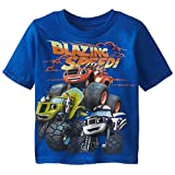 Blaze and the Monster Machines Little Boys' Toddler Short Sleeve T-Shirt, Royal, 4T
