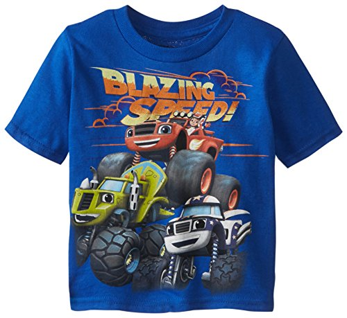 Blaze and the Monster Machines Little Boys' Toddler Short Sleeve T-Shirt, Royal, 4T
