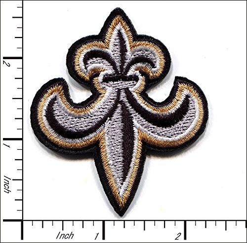 20 Pcs Embroidered Iron on patch Fleur De Lis Religious 5.5x6.5cm AP047eB ()