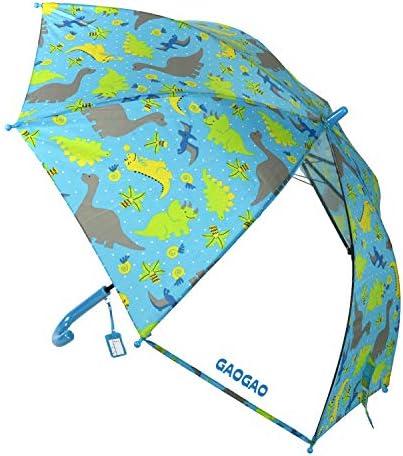 子供用 きょうりゅう柄 透明窓付 ジャンプ傘 50cm