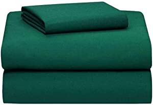 Empire Home Flat Sheet Persian Collection 1800 Wrinkle Free New (Hunter Green, King)