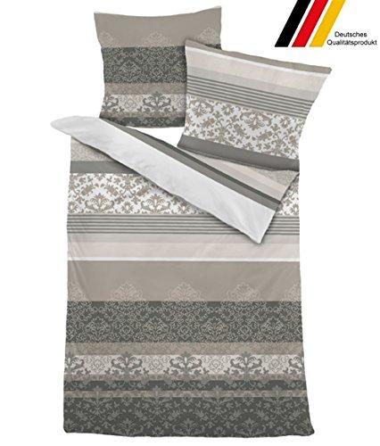 Dormisette Fein-Biber Bettwäsche 135x200 (3428-taupe)