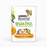 Fill your dog's bowl with Purina Beneful Grain Free With Real Farm-Raised Chicken adult dry dog food, and give him a meal that features real farm-raised chicken as the #1 ingredient. With accents of blueberries, pumpkin and spinach, this dry ...