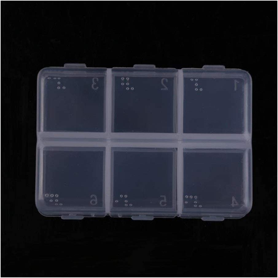 Mini Portatile Vuoto Braille 6 Celle Pillola Medicina Droga Capsule Splitter Holder Caso di immagazzinaggio di Corsa della Scatola della Custodia