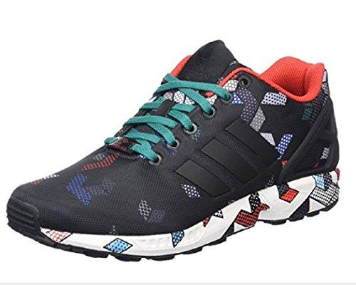 adidas ZX Flux, Men's Trainers cblack/cblack/eqtgrn