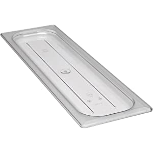 Cambro 20LPCWC135 Camwear Flat Food Pan Lid, Clear, 1/2 Size Long, Case of 6