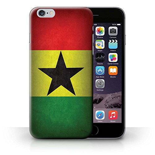 Hülle Case für iPhone 6+/Plus 5.5 / Ghana/Ghanaischen Entwurf / Flagge Collection
