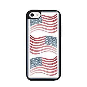 American Flags Design 2-Piece Dual Layer Phone Case Back Cover iPhone 5 5s