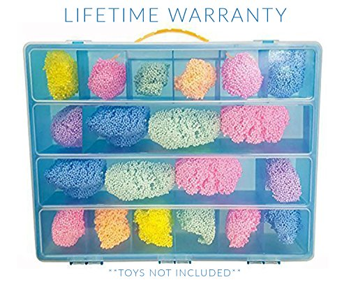 Foam Play Case, Toy Storage Carrying Box. Figures Playset Organizer. Accessories For Kids by (Playfoam Sparkle)