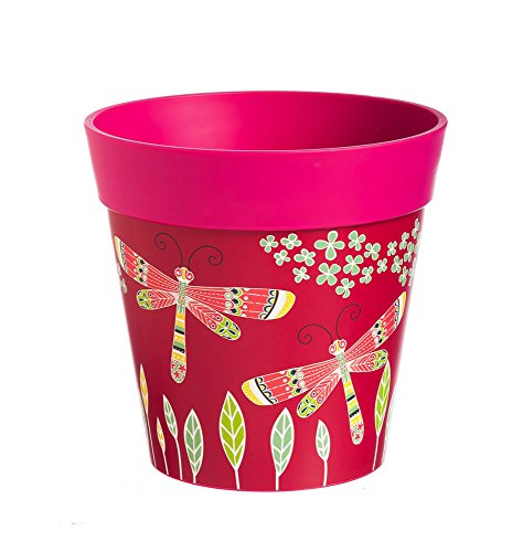 New Creative Dragonflies in Flight HUM Flowerpot with 5 Liter Capacity
