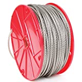Koch 016161 Cable, 7 by 19 Construction, Trade Size 3/16 by 125 Feet, Stainless Steel