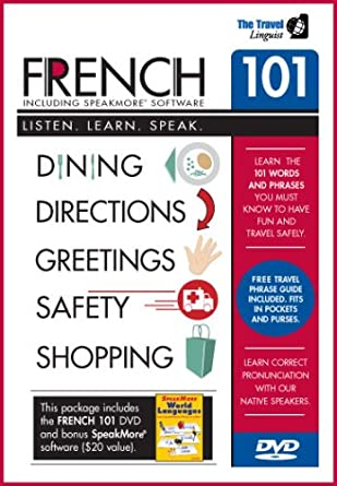 Amazon com: French 101 DVD with SpeakMore French Software