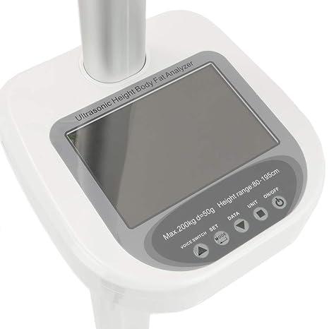 PrimeMatik - Báscula para medir Peso y Altura Balanza Digital con LCD 200 Kg 195 cm: Amazon.es: Electrónica