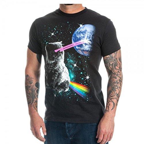 Bioworld Laser Eyes Space Cat T-Shirt - Clothing Eye Cats