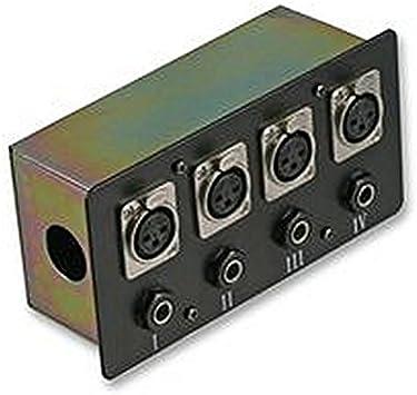 Caja de conexión, 4X XLR S + JACK acero caja de conexión diseño blindado conexiones 4